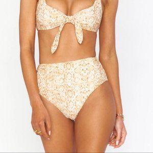 Show Me Your MuMu Brown Snake Skin Bikini Bottoms
